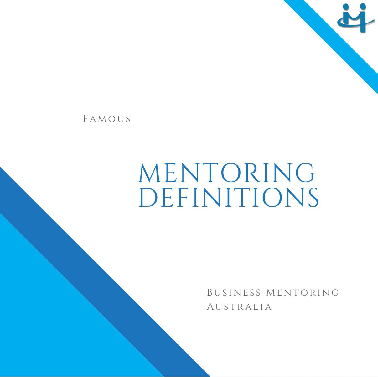 Mentoring Definitions