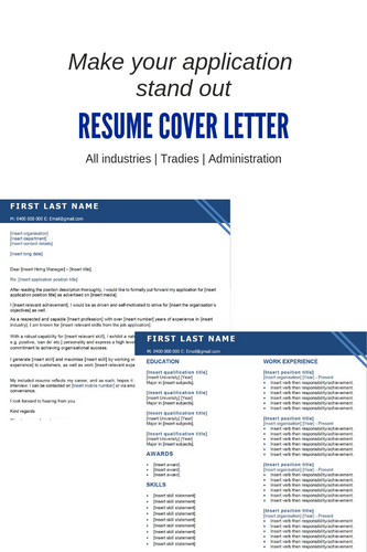 FREE Resume Template | Tradie Blue