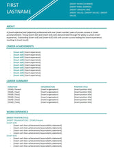 FREE Resume Template | Sales and Marketing Teal