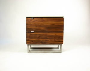 Solid Wood & Concrete Top'n Legs Nightstand