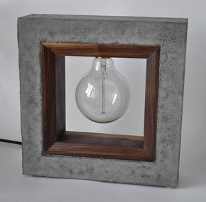 Inside Out - Concrete & Wood Table Lamp