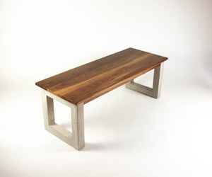 Concrete and Wood Handmade Coffee Table