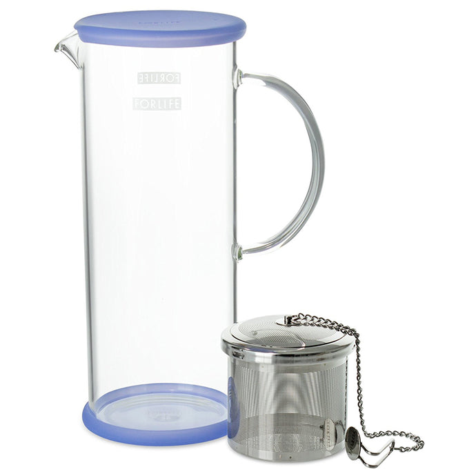 Glass Ice Tea Jug with Infuser Capsule