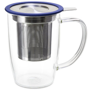 Glass Brew-In Tea Mug with Lid