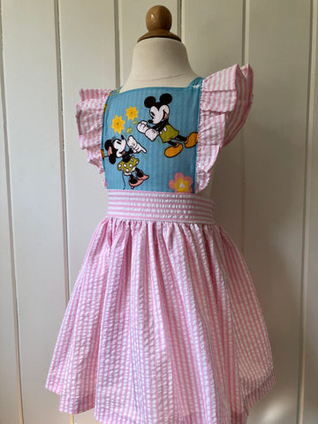 Vintage Mickey and Minnie Pinafore