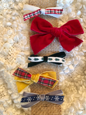 Set of 5 Holiday Bows