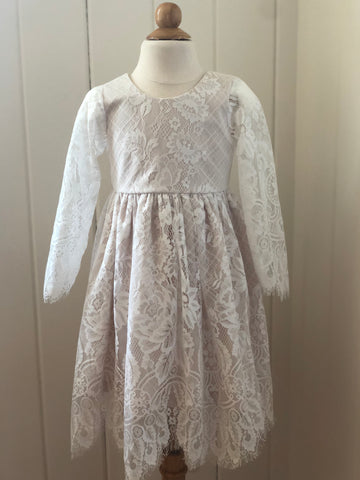 Chantilly Lace Long Sleeve Dress