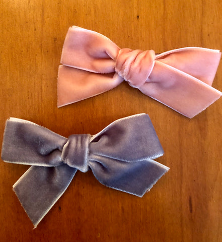 Baby pink and blue Bow Set