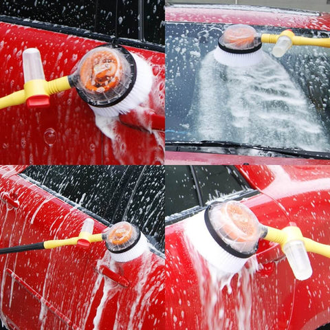 How Does Water Powered Rotating Car Cleaning Brush Works