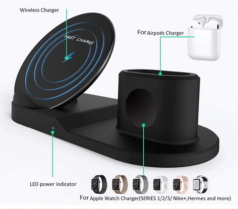 Wireless Charger for iPhone, Apple Watch and Airpods