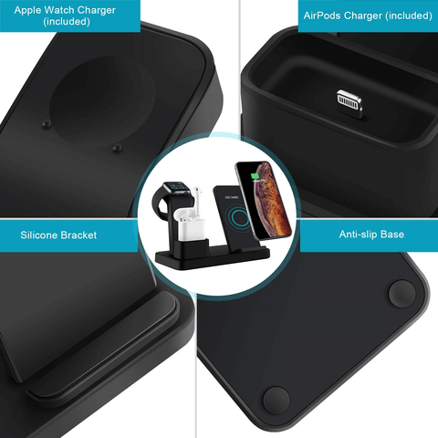 Fast Charging Wireless 3-in-1 iPhone Charger