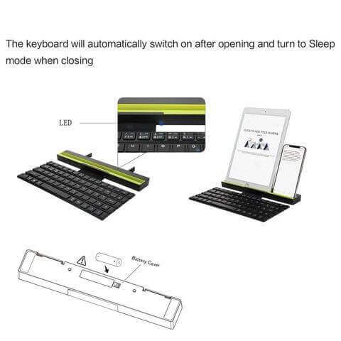 Foldable Bluetooth Keyboard for Smartphone and Tablet Best Buy