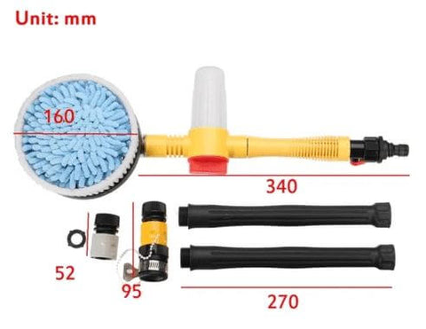 Water Powered Rotating Car Cleaning Brush Instructions