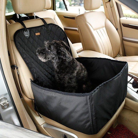 Pet Waterproof Booster Seat And Car Seat Protector With Non-Slip Rubber Backing, Seat Anchor, and Adjustable Strap