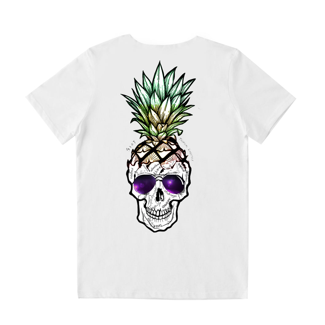 Pineapple Skull w/Sunglasses Tshirt