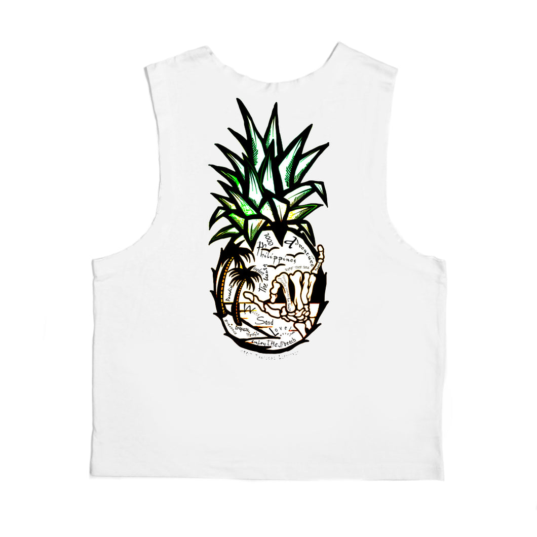 Pineapple Hand Bones Muscles Cut