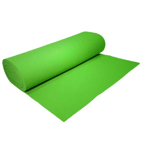 "Acrylic Felt by the Yard 72"" Wide X 10 YD Long: Apple Green - KINGDOM OF FABRICS"