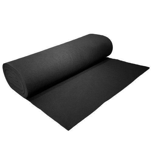 "Acrylic Felt by the Yard 72"" Wide X 10 YD Long: Black - KINGDOM OF FABRICS"