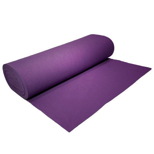 "Acrylic Felt by the Yard 72"" Wide X 5 YD Long: Purple - KINGDOM OF FABRICS"