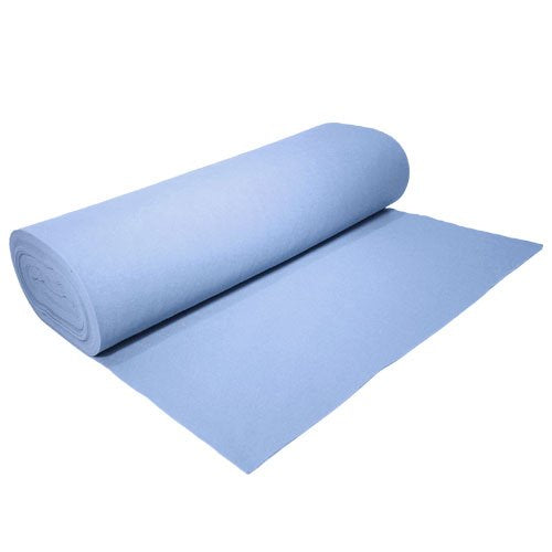 "Acrylic Felt by the Yard 72"" Wide X 10 YD Long: Light Blue - KINGDOM OF FABRICS"