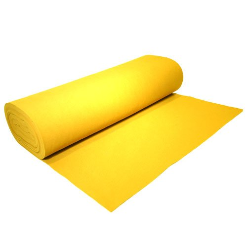 "Acrylic Felt by the Yard 72"" Wide X 10 YD Long: Neon Yellow - KINGDOM OF FABRICS"