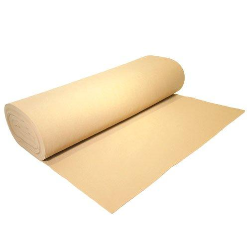 "Acrylic Felt by the Yard 72"" Wide X 1 YD Long: Ivory - KINGDOM OF FABRICS"