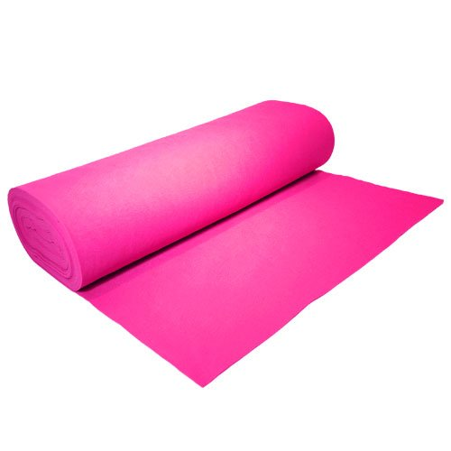 "Acrylic Felt by the Yard 72"" Wide X 5 YD Long: Fuchsia - KINGDOM OF FABRICS"