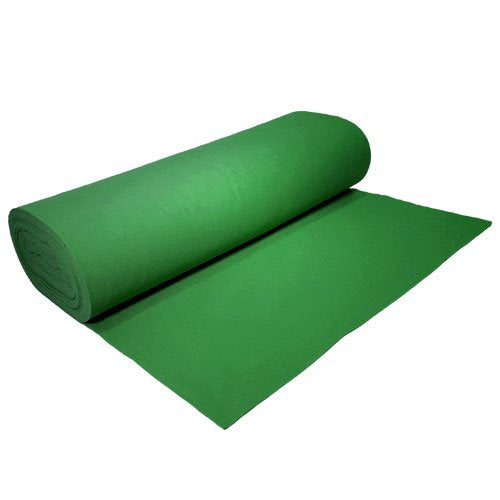 "Acrylic Felt by the Yard 72"" Wide X 5 YD Long: Emerald Green - KINGDOM OF FABRICS"