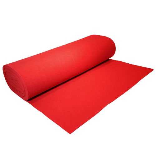 "Acrylic Felt by the Yard 72"" Wide X 5 YD Long: Red - KINGDOM OF FABRICS"