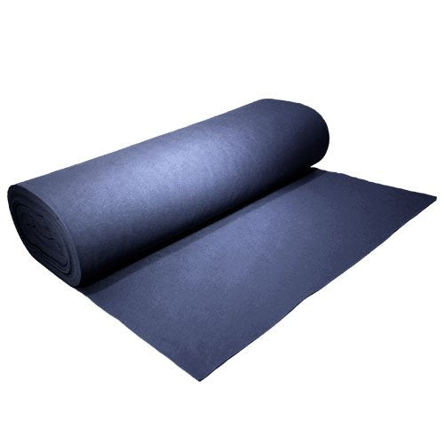 "Acrylic Felt by the Yard 72"" Wide X 5 YD Long: Navy Blue - KINGDOM OF FABRICS"
