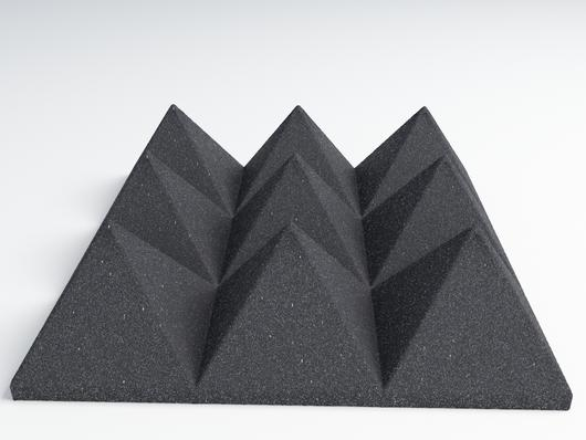 12 Pack of (12x12x4)Inch Acoustical Pyramid Foam Panel for Soundproofing Studio & Home Theater-Charcoal - KINGDOM OF FABRICS
