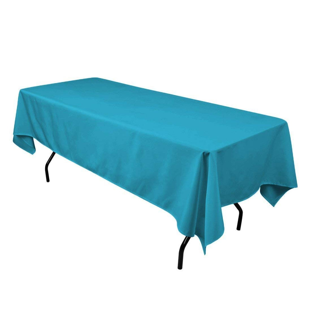 "Rectangle Tablecloth - 60 x 102"" Inch - Caribbean Rectangular Table Cloth for 6 Foot Table in Washable Polyester - Great for Buffet Table, Parties, Holiday Dinner, Wedding & More"