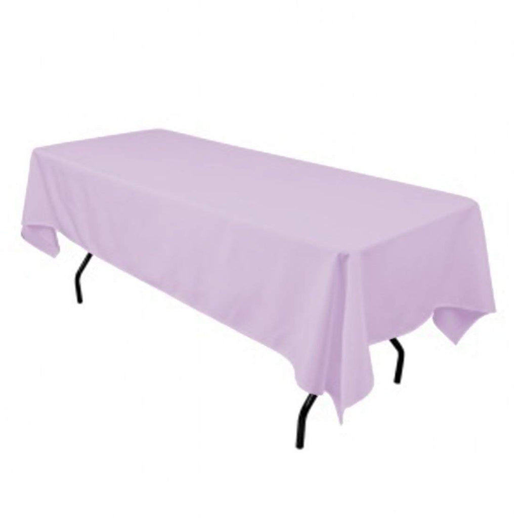 "Rectangle Tablecloth - 60 x 102"" Inch - Lavender Rectangular Table Cloth for 6 Foot Table in Washable Polyester - Great for Buffet Table, Parties, Holiday Dinner, Wedding & More"