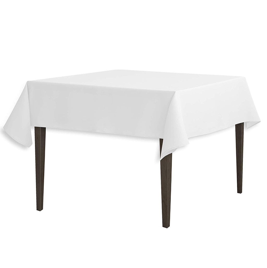 Tablecloth 54-Inch Square Polyester Tablecloth White