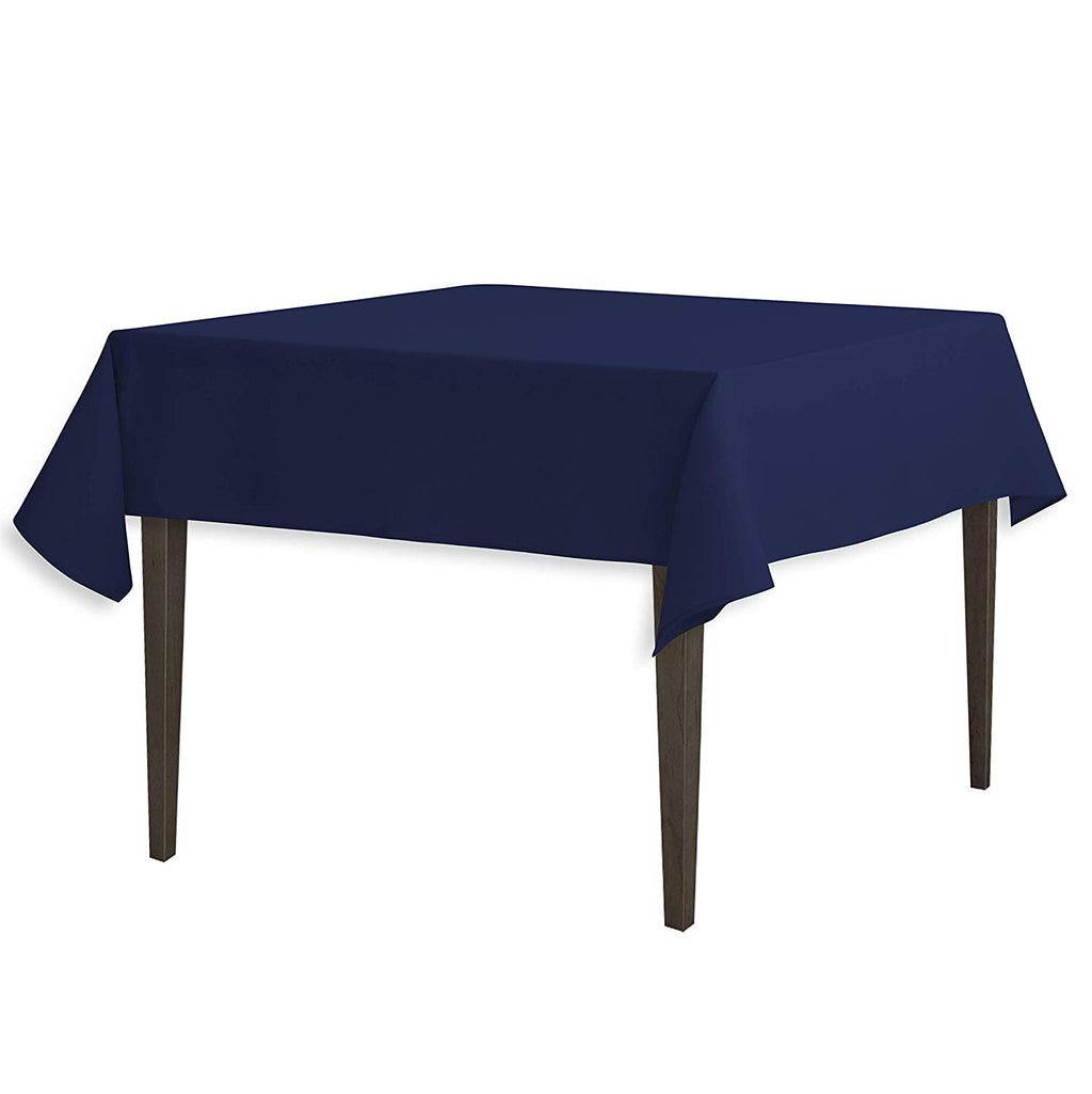 Tablecloth 54-Inch Square Polyester Tablecloth Navy Blue