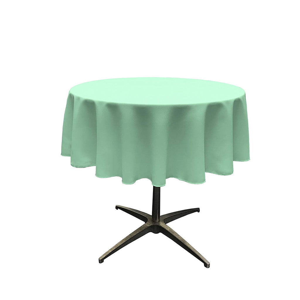 Polyester Poplin Tablecloth 51-Inch Round, Mint