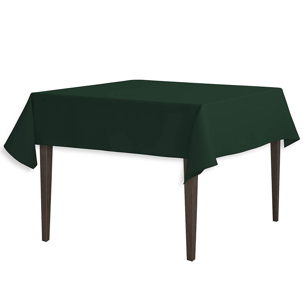 Tablecloth 54-Inch Square Polyester Tablecloth Hunter Green