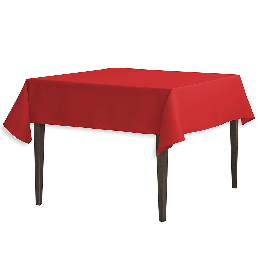 Tablecloth 54-Inch Square Polyester Tablecloth Red