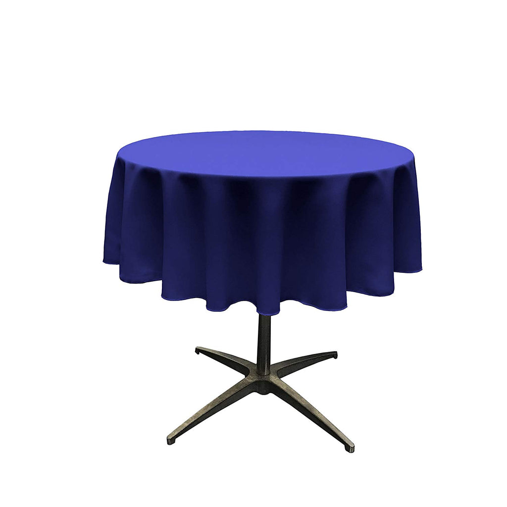Polyester Poplin Tablecloth 51-Inch Round, Royal Blue