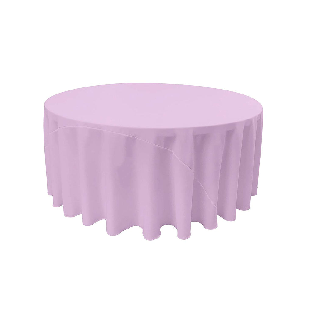 Polyester Poplin Round Tablecloth, 120-Inch Choose Color Below