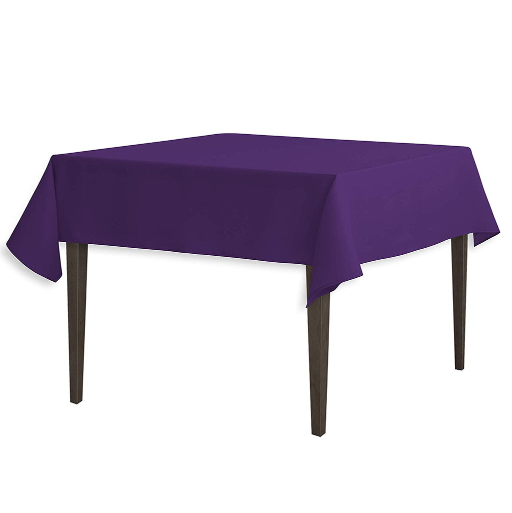 Tablecloth 54-Inch Square Polyester Tablecloth Purple