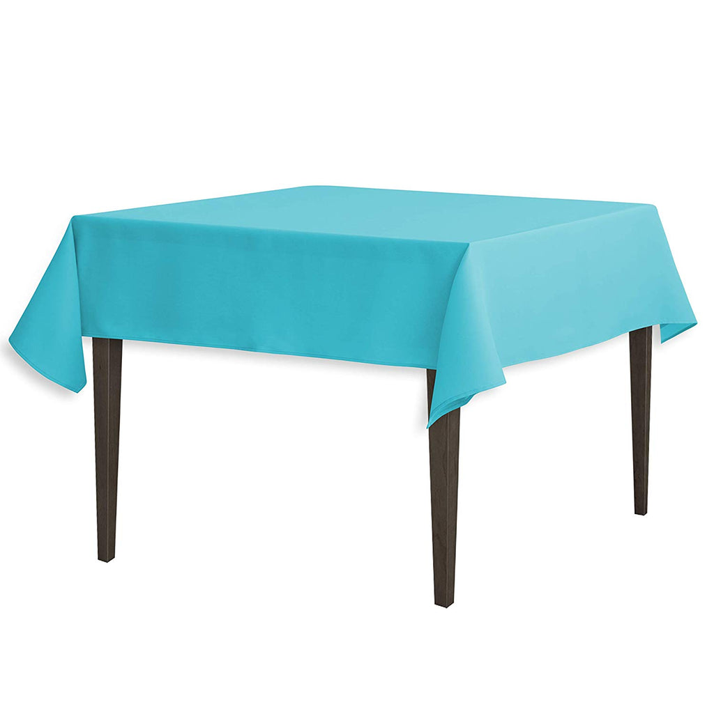 Tablecloth 54-Inch Square Polyester Tablecloth Turquoise