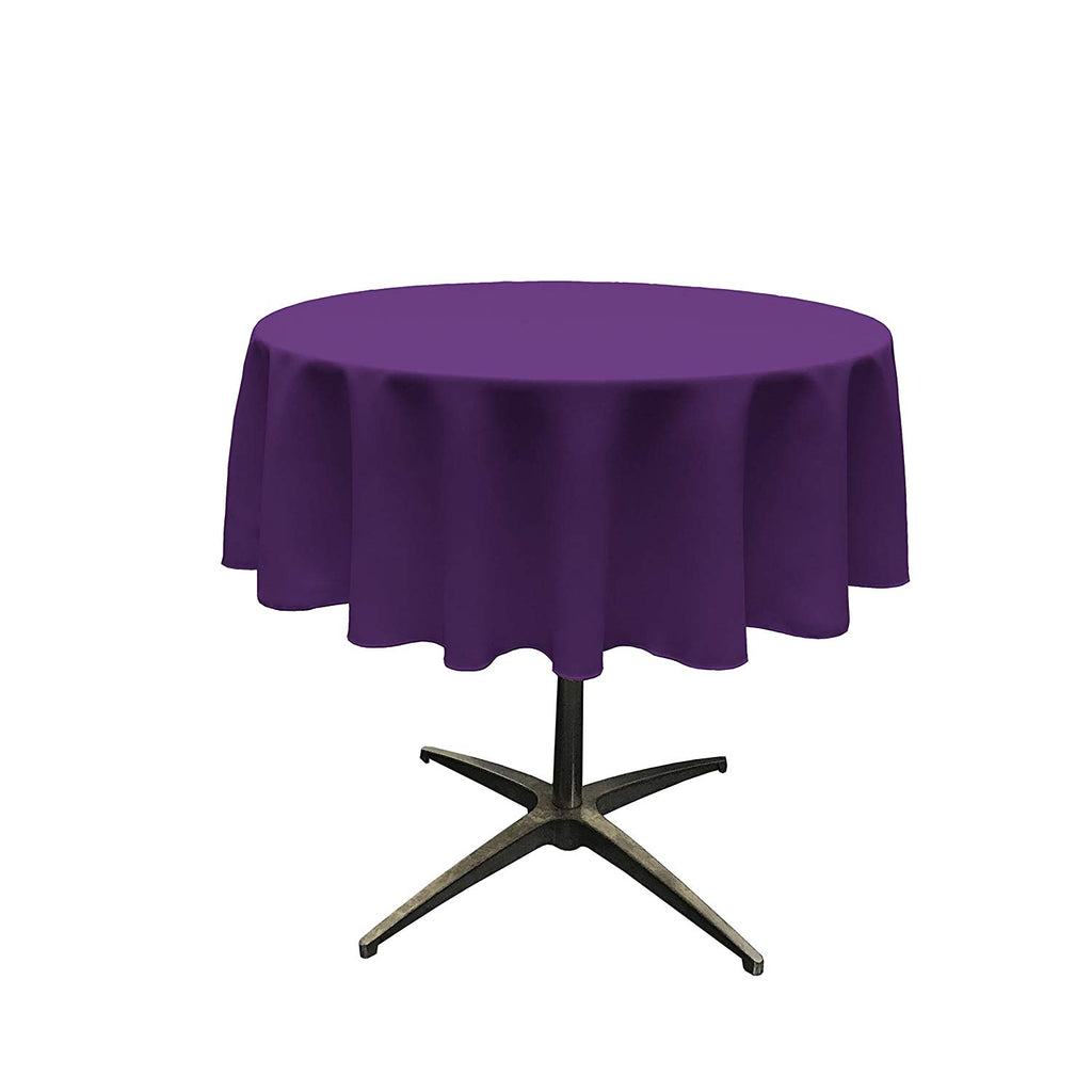 Polyester Poplin Tablecloth 51-Inch Round, Purple