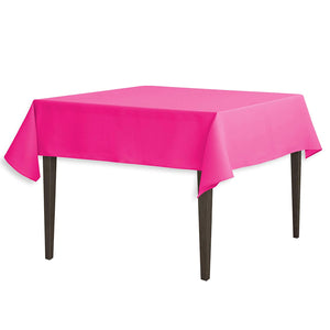 Tablecloth 54-Inch Square Polyester Tablecloth Fuchsia