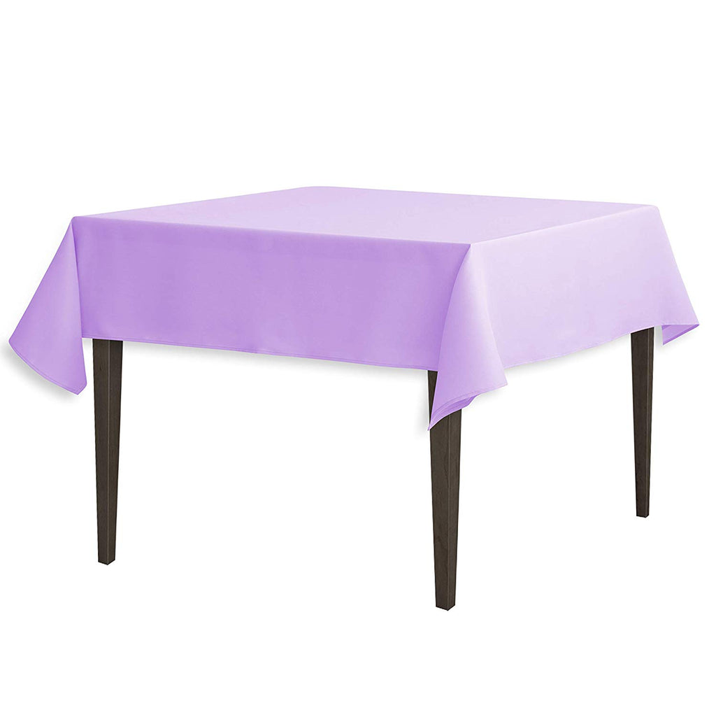 Tablecloth 54-Inch Square Polyester Tablecloth Lavender