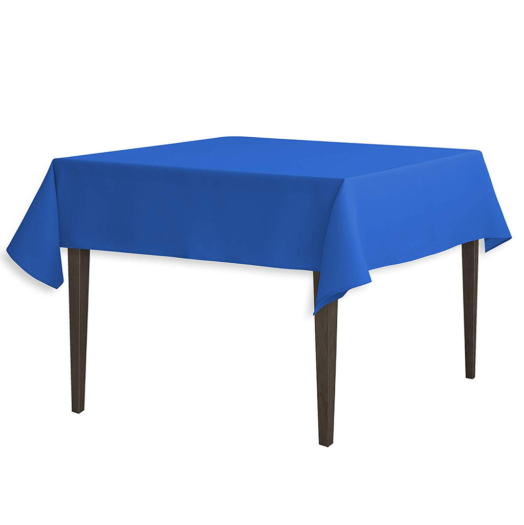 Tablecloth 54-Inch Square Polyester Tablecloth Royal Blue