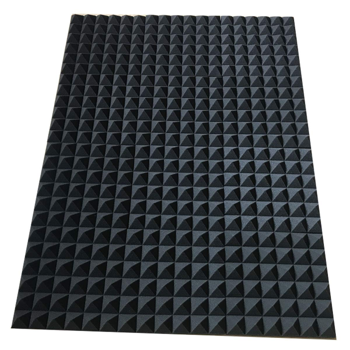 "Acoustic Foam Sound Absorption Pyramid Studio Treatment Wall Panel, 96"" X 72"" X 2"" - KINGDOM OF FABRICS"