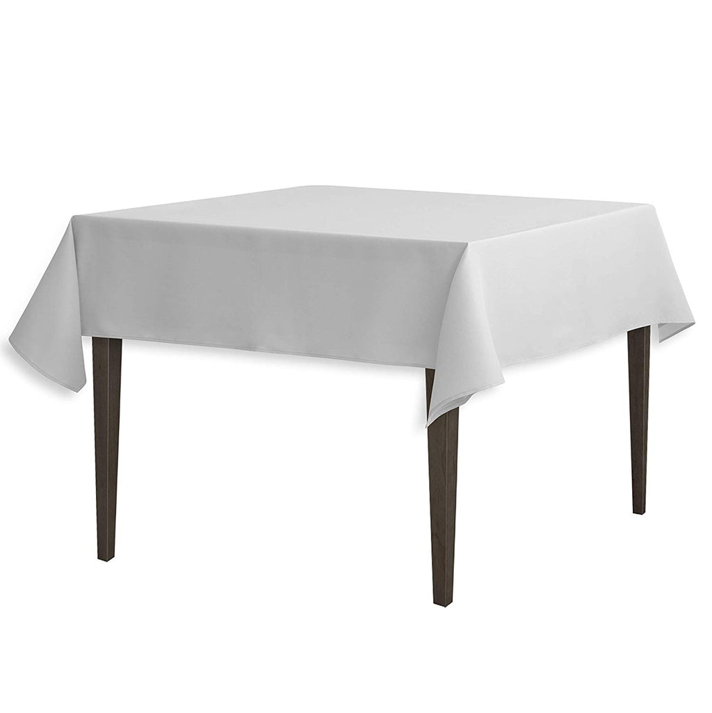 Tablecloth 54-Inch Square Polyester Tablecloth Silver