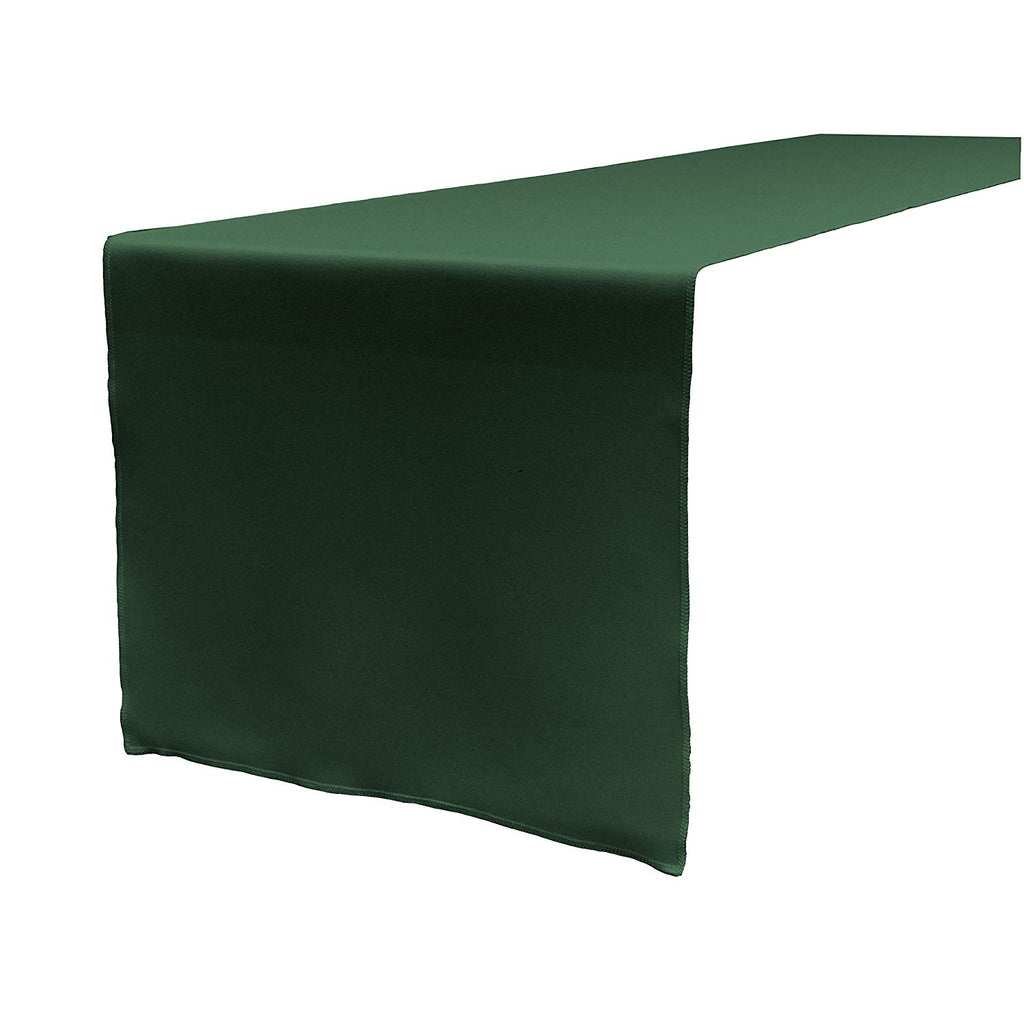 Polyester Poplin Table Runner 12 by 72-Inch, Hunter Green - KINGDOM OF FABRICS