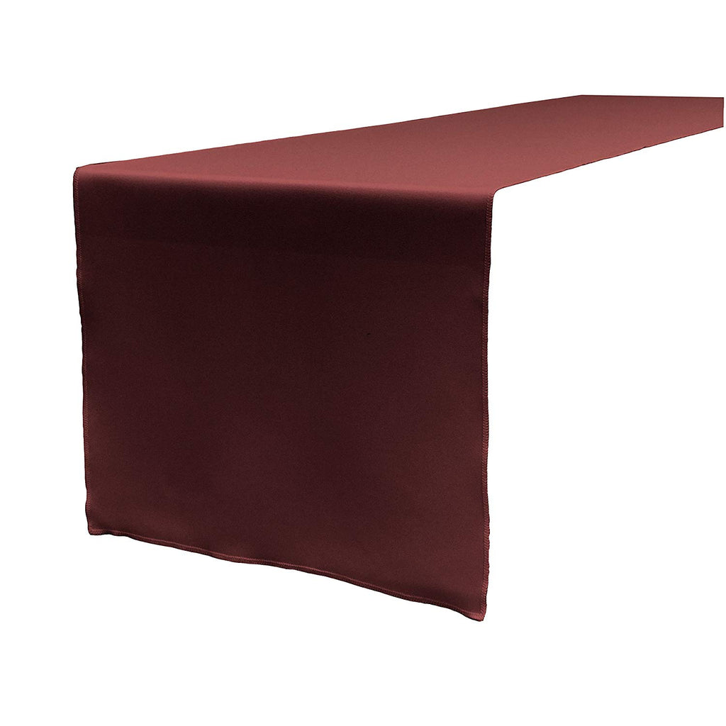Polyester Poplin Table Runner 12 by 72-Inch, Burgundy - KINGDOM OF FABRICS